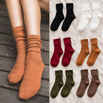 Women Warm Thick Cotton Breathable Ankle-High Sports Socks Fashion Dress Socks