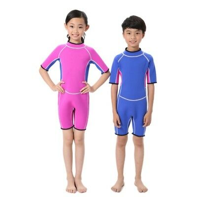 2.5MM Swimsuit For Kids Baby Girls Boys Warm Wetsuits One Piece Diving Suits AU