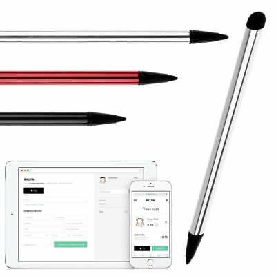 Universal 2in1 Touch Screen Stylus Pen For iPad iPhone Tablet High Precision Pen
