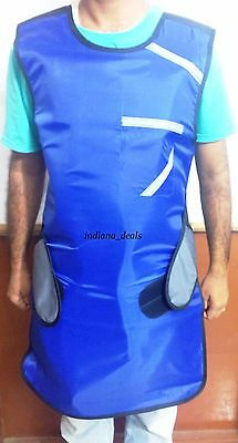Set of  X ray Protective Blue LEAD APRON with THYROID COLLAR