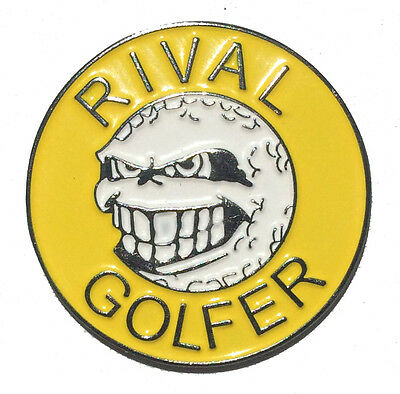 Rebellious Golf Ball Marker by Rival Golfer - Yellow