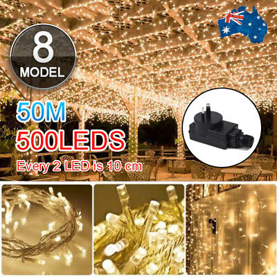 500LED Warm White Fairy Christmas Xmas String Lights Wedding Party Garden SAA AU
