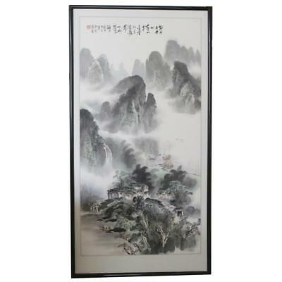 20th Chinese Watercolor Painting of Landscape.