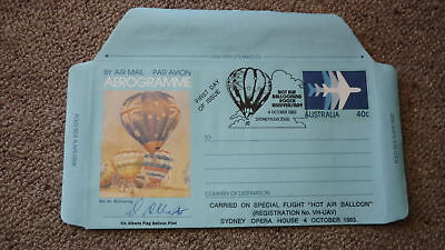Old Hot Air Balloon Flight Cover, 1983 Ballooning Bicentenary, Carried Sydney
