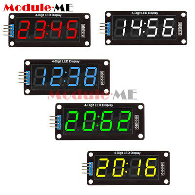 "White/Red/Green/Blue 0.56"" inch TM1637 4-Bits LED Clock Tube Display for Arduino"