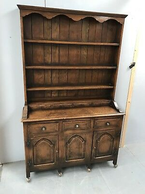 Antique Titchmarsh & Godwin Oak Dresser - Reproduction - Quality - Delivery £55