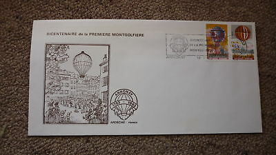 Old Hot Air Balloon Flight Cover, 1983 Montgolfiere Bicentennary, Annonay France