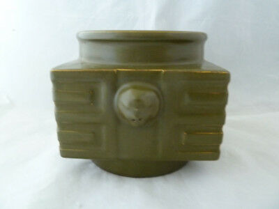 Old Chinese Teadust Glazed Cong Vase - Signed on the Base - Info Welcome