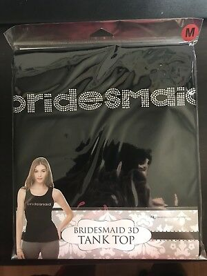 Bridesmaid 3D Tank Top - Medium 3/4 - 5/6 - Black - Wedding - Fun