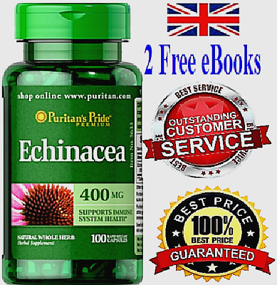 Echinacea STRONG Healthy Immune System BOOST Rapid 100 Tablets Capsules 400 mg