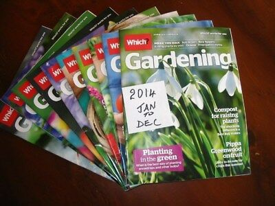 2014Full YearWhich Gardening January – December, all preloved used once only.