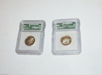Graded Quarters Indiana Silver / Tennessee Silver   Graded PR7 .............2569