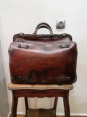 Rare Old Antique Ww2 Wwii Medic Medicine Doctor Leather Bag