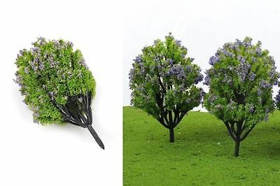 Miniature Fairy Garden Pale Purple Flowering Trees/Shrubs-Set of 2-Buy 3 Save $5
