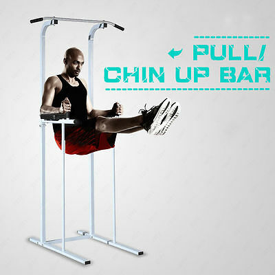 NEW!! Fitness Power Tower Dip Pull/Chin Up Bar Station Home Gym Fitness Exercise
