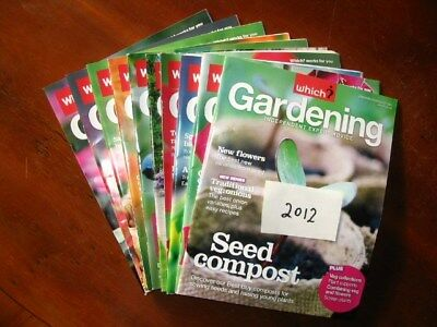 2012 Full Year Which Gardening January – December, all preloved used once only.