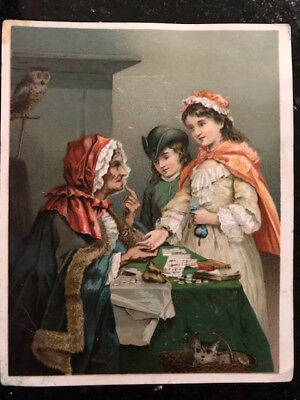 """Victorian Trade Card """"The Gipsy Fortune-Teller"""", card Dr Jayne's Tonic Vermifuge"""