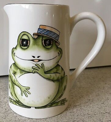 Frog Jug By Arthur Wood Pottery Toad Country Kitchen Cream