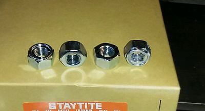 "7/16"" UNF METAL LOCKING NUTS Stainless Steel Insert Hex Fastener Bolt Stud"