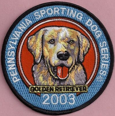 Pa Fish Game Commission Pennsylvania Sporting Dog 2003 Golden Retriever Patch