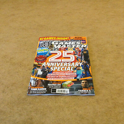 GAMESMASTER #327 2018 PS4 X BOX ONE  PSVITA GAMING NEWS 25th ANNIVERSARY SPECIAL