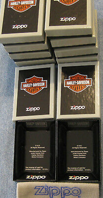 ZIPPO  HARLEY DAVIDSON Lighter 3 Box  EMPTY  For your Lighters 3 BOXES