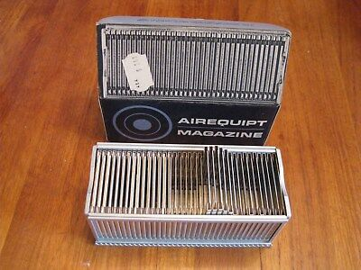 """SEVEN  Metal Photo 35MM Airequipt Slide Magazine Trays - Ea. Holds 36 2"""" slides"""