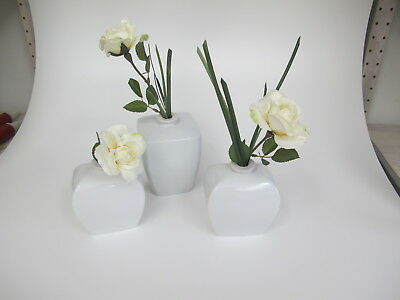 porzellan vase pure white 3er set blumenvase wei tischdekoration dekoration eur 7 50. Black Bedroom Furniture Sets. Home Design Ideas