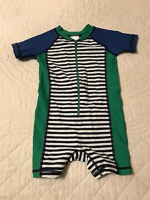 NWOT HANNA ANDERSSON SWIMMY RASH GUARD BABY SWIM SUIT NAVY WHITE 80 18-24 M 1 Pc