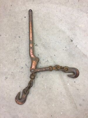 LeBus Model 7-1 Heavy Duty 5400 lbs Chain Hooks Load Binder Made in USA