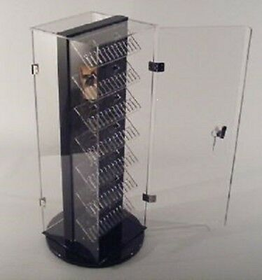 """Two-Side Locking Body Jewelry Display 7x7.5""""x20""""H Holds up to 240pcs MADE IN USA"""