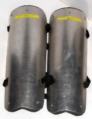 ELLWOOD SAFETY PRODUCTS - JACK HAMMER - SHIN GUARDS - w/ STRAPS & FOAM PADS