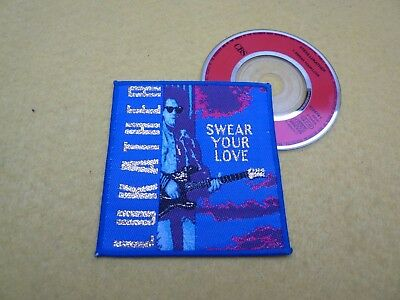 "Steve Lukather ‎– Swear Your Love (EX++/EX) 3"" embroidered patch / badge cover ç"
