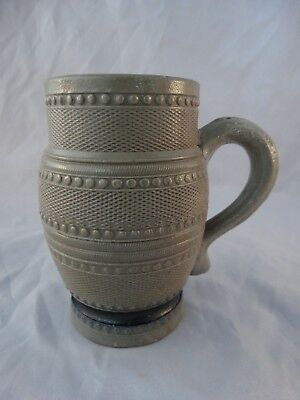Antique Whites Utica Stoneware Mug /Stein 4 1/2""