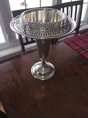Fine Sterling Silver Trumpet Vase Center Piece For Berry & Whitmore Co.