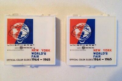 1964-65 New York World's Fair Official Color Slides (lot of 2)