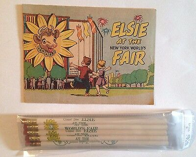 Elsie at the 1964-65 New York World's Fair 5 Pencils and Comic Book