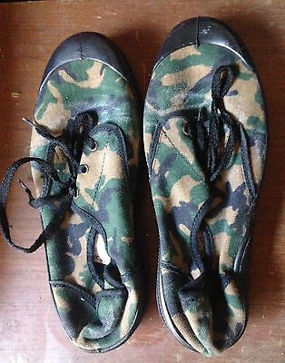 Camo Canvas Shoes Camouflage Size 5 38 Internationale Country Green Trainers