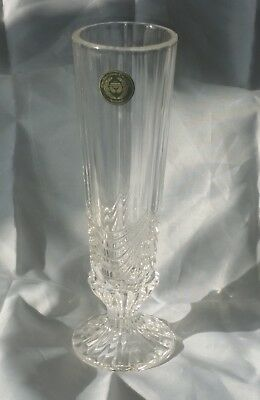 17 Cm Irish Cut Crystal Tulip Vase, 24% Lead, Gift Boxed,ideal Mothers Day Gift
