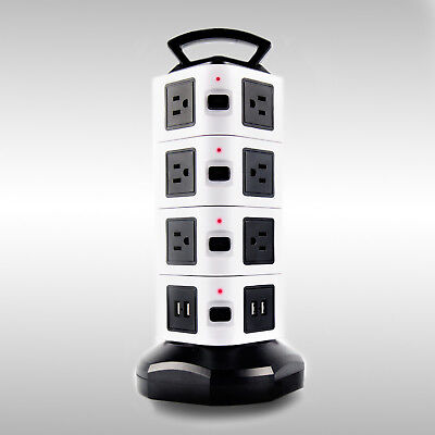Vertical Power Strip Surge Protector with 14 Outlets and 4 USB Charging Ports