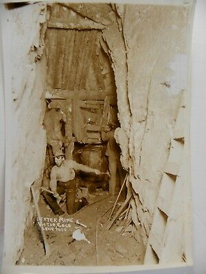Original Early 1900's Victor Colorado Dexter Mine ~Workers in Mine Shaft~ Photo