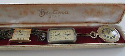 Lot of Vintage Watches, Vintage Bentima STAR Box, Bular, Corteal and Weipeng