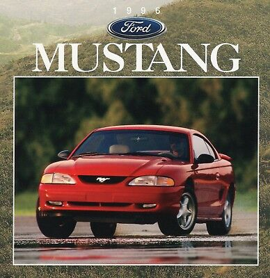Ford Mustang 1996 Original Factory Sales Brochure MINT Condition includes GT