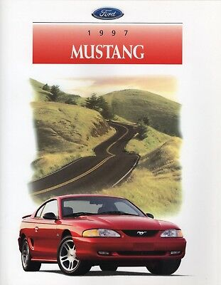 Ford Mustang 1997 Original Factory Sales Brochure MINT Condition includes GT