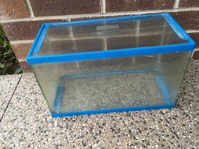 Small Glass fish tank with lid 40 X 18 X 24cm