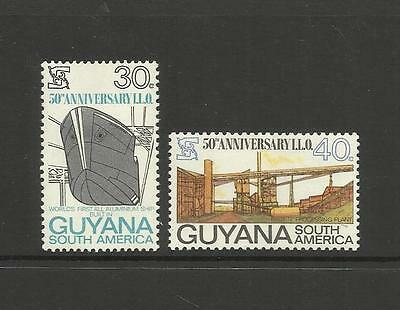 GUYANA ~ 1969  I.L.O. 50th ANNIVERSARY (MINT SET MH)