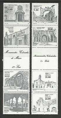 Mexico ~ 1982-1985 Mint Strips ~ Architecture & Writers
