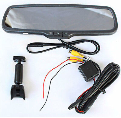 4.3''TFT LCD Display Screen Rear View Mirror Monitor Built-in Special Bracket