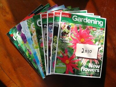 2010Full YearWhich Gardening January – December, all preloved used once only.