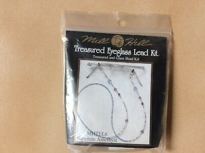 Beading  : Eyeglass Lead Kit By Mill Hill Colour Sapphire Amethyst